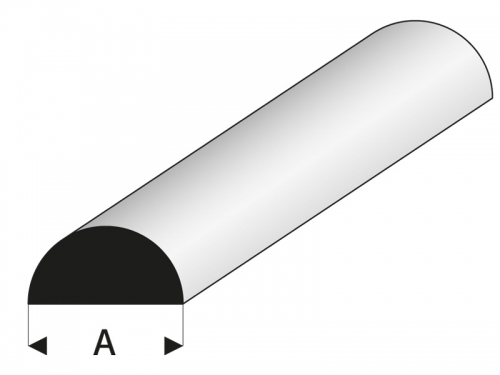 ASA Halbrundstab 7x1000 mm Krick rb401-62