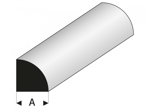 ASA Viertelrundstab 6x1000 mm Krick rb402-60