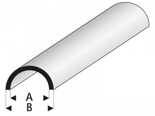 ASA Rohr halbrund 1,5x3x1000 mm Krick rb403-52