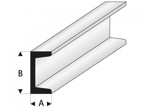 ASA U-Profil 1,25x2,5x330 mm (5) Krick rb412-53-3