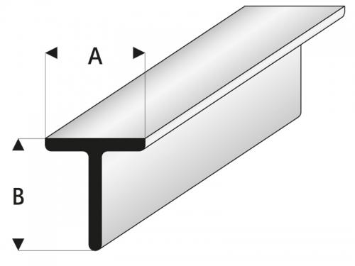 ASA T-Profil 2,5x2,5x330 mm (5) Krick rb413-53-3