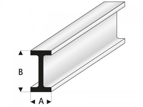 ASA Doppel-T-Profil 2,5x5x330 mm (5) Krick rb414-53-3