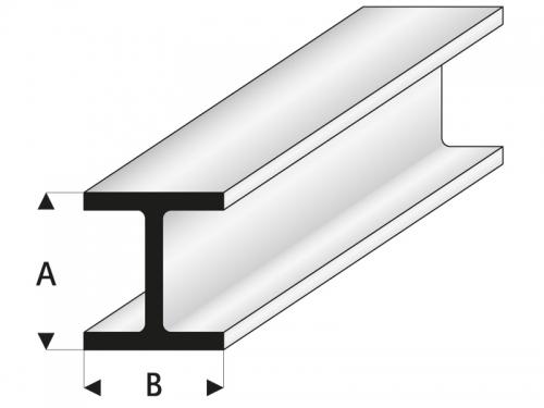 ASA H-Profil 2,5x2,5x1000 mm Krick rb415-53