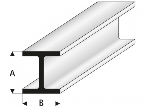 ASA H-Profil 3,5x3,5x1000 mm Krick rb415-55