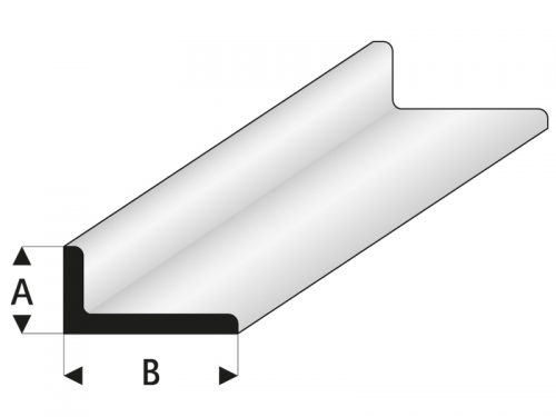 ASA L-Profil 2,5x5x330 mm (5) Krick rb417-53-3