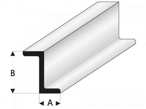 ASA Z-Profil 2,5x5x1000 mm Krick rb418-52