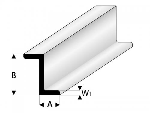 ASA Z-Profil 8x12x1000 mm Krick rb418-60