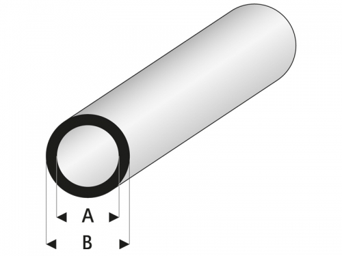 ASA Rohr 2x4x330 mm (5) Krick rb419-54-3