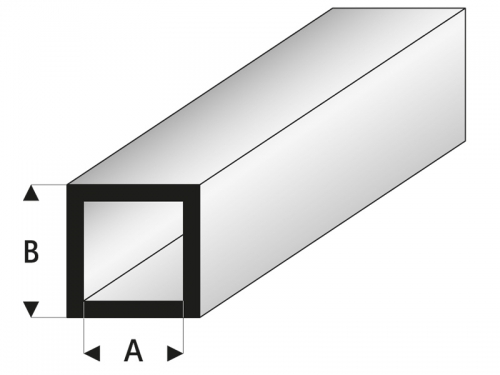 ASA Quadratisches Rohr 4x6x330 mm (5) Krick rb420-55-3