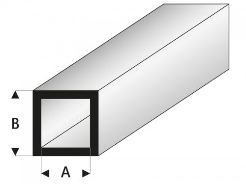 ASA Quadratisches Rohr 4x6x1000 mm Krick rb420-55