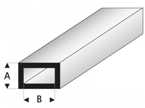 ASA Rechteck Rohr 4x8x1000 mm Krick rb421-53