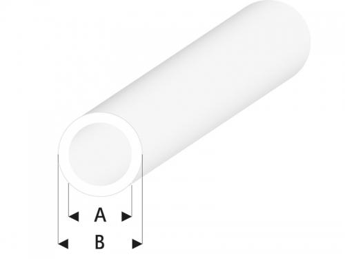ASA Rohr transparent 3x4x330 mm (5) Krick rb422-55-3