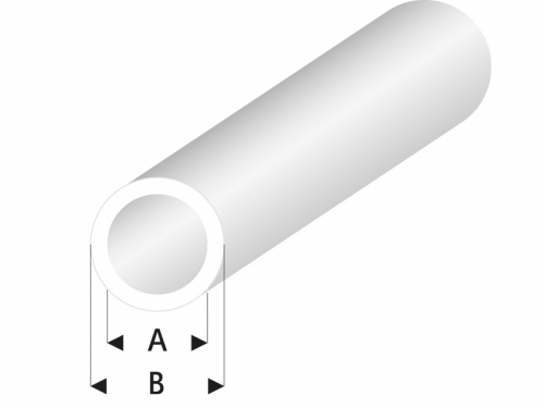 ASA Rohr transparent weiß 4x5x330 mm (5) Krick rb423-57-3