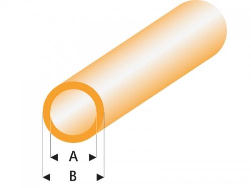 ASA Rohr transparent orange 5x6x330 mm (5) Krick rb425-59-3