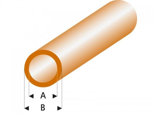 ASA Rohr transparent braun 2x3x330 mm (5) Krick rb427-53-3