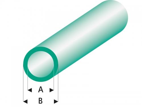 ASA Rohr transparent grün 3x4x330 mm (5) Krick rb428-55-3