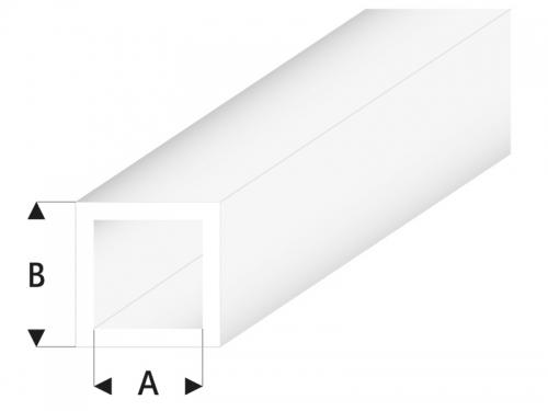 ASA Quadrat Rohr transparent  3x4x330 mm (5) Krick rb430-55-3