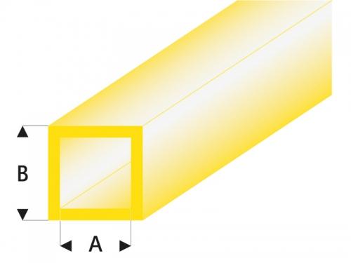 ASA Quadrat Rohr transparent gelb 5x6x330 mm (5) Krick rb432-59-3