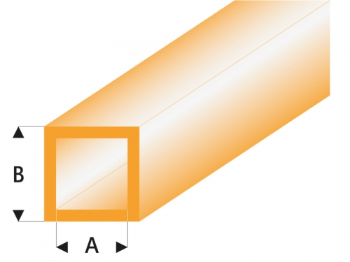 ASA Quadrat Rohr transparent orange 3x4x330 mm (5) Krick rb433-55-3