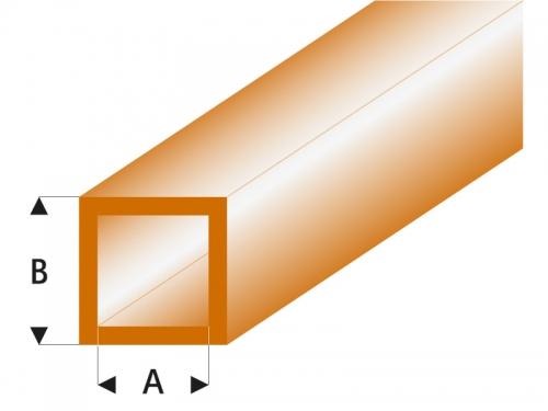 ASA Quadrat Rohr transparent braun 3x4x330 mm (5) Krick rb435-55-3