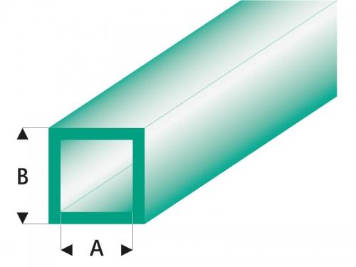 ASA Quadrat Rohr transparent grün 5x6x330 mm (5) Krick rb436-59-3
