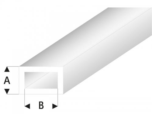 ASA Rechteck Rohr transparent  2x4x330 mm (5) Krick rb438-53-3