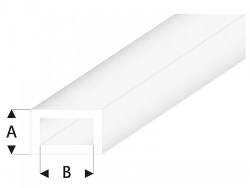 ASA Rechteck Rohr transparent weiß 2x4x330 mm (5) Krick rb439-53-3