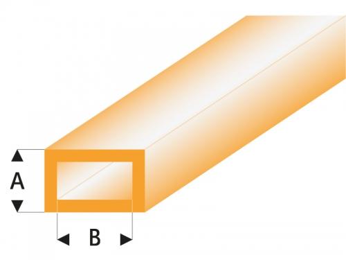ASA Rechteck Rohr transparent orange 2x4x330 mm (5) Krick rb441-53-3