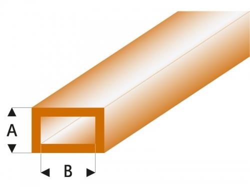 ASA Rechteck Rohr transparent braun 2x4x330 mm (5) Krick rb443-53-3