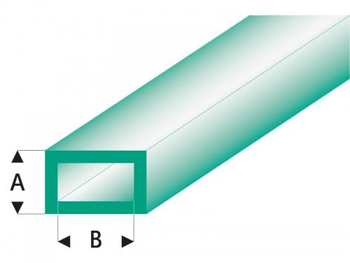 ASA Rechteck Rohr transparent grün 3x6x330 mm (5) Krick rb444-55-3