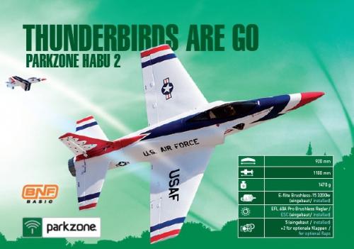 Parkzone Habu 2 EDF BNF Basic Horizon PKZ7150