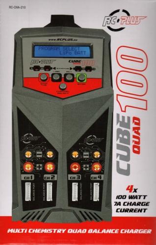 RC Plus Ladegerät 100 Quad Charger AC-DC 4 x 100 Watt RC-CHA-210