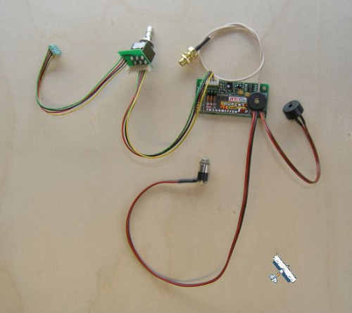 2.4GHz Jeti Duplex Sender Modul für Graupner MC mit Umschalter und ext. Piezzo