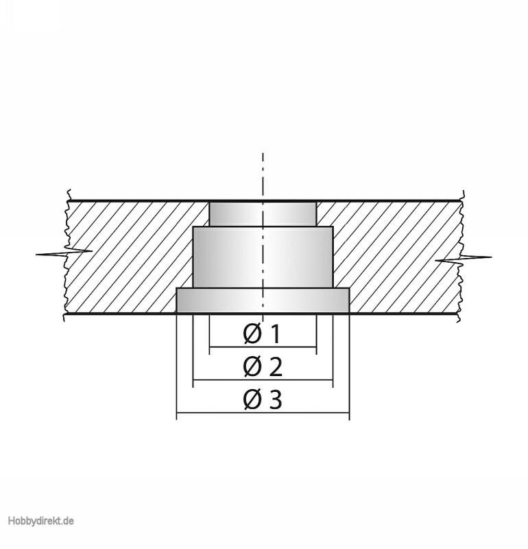 388f1ebe43 C-PROP 5x3 Zoll 5 6 8 mm sw V Graupner 1346.5X3L.D 4013389532457 ...