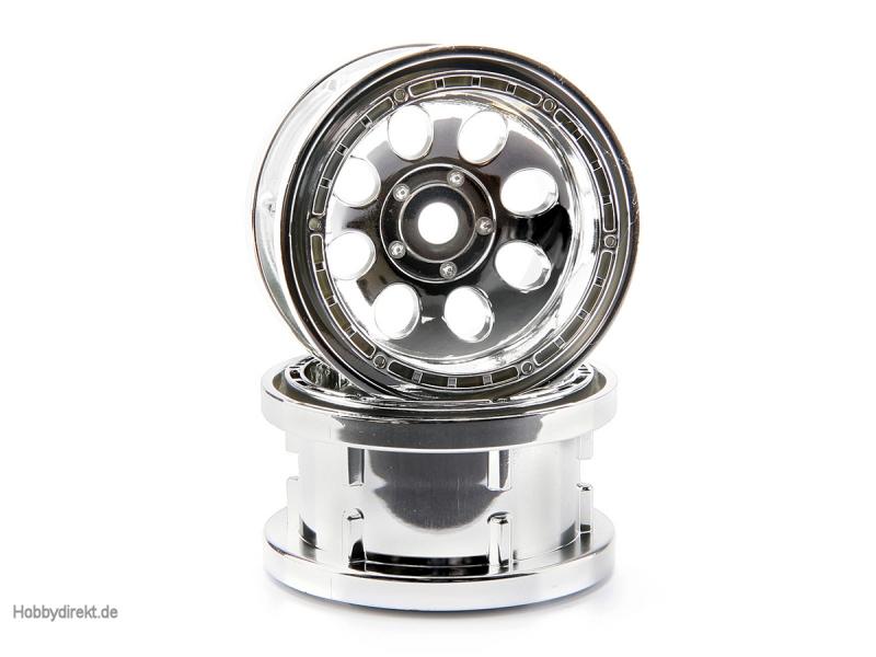 Rock 8 Bead Lock Felge Chrom (55X36mm/2St) HPI 3213