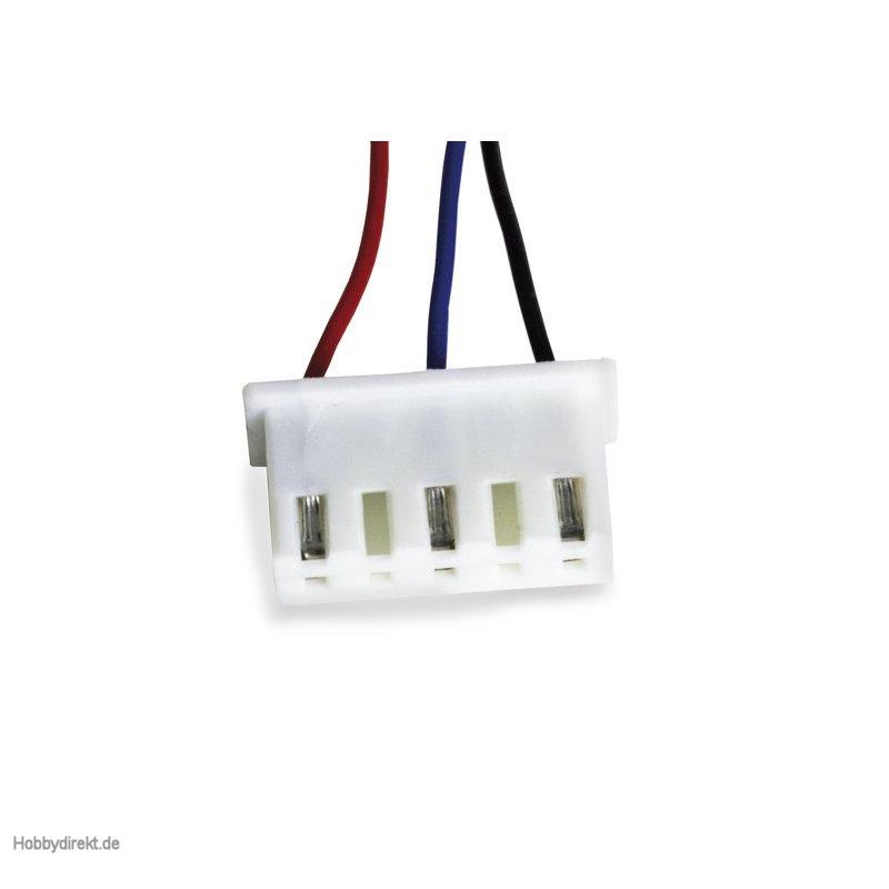 Stecker UVR XH-5 5-pol mit Kabel Graupner 33000.18