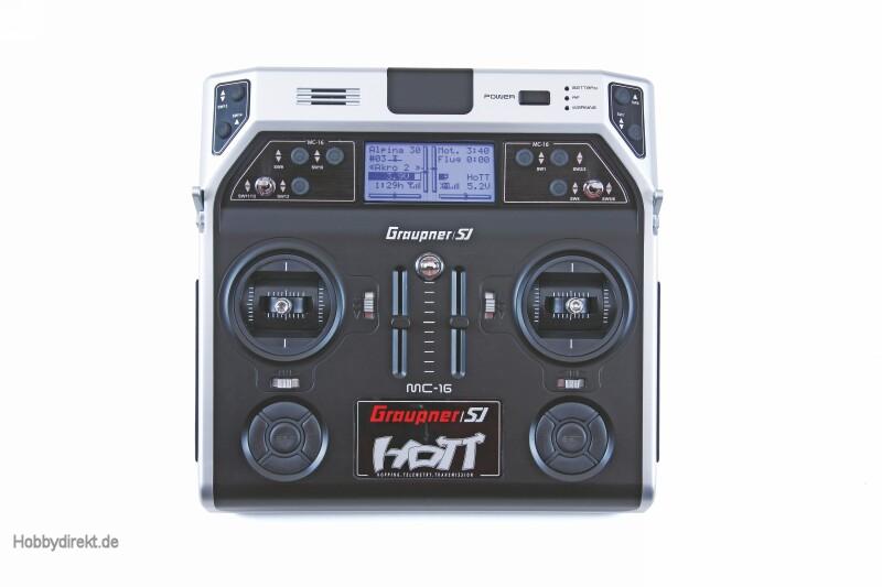 MC-16 Graupner HoTT Fernsteuerung 2,4 GHz Graupner 33016.16.EN