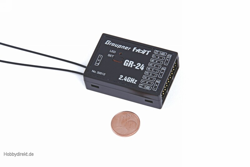 Empfänger GR-24 HoTT2.4 GHz 12 Kanal Graupner 33512