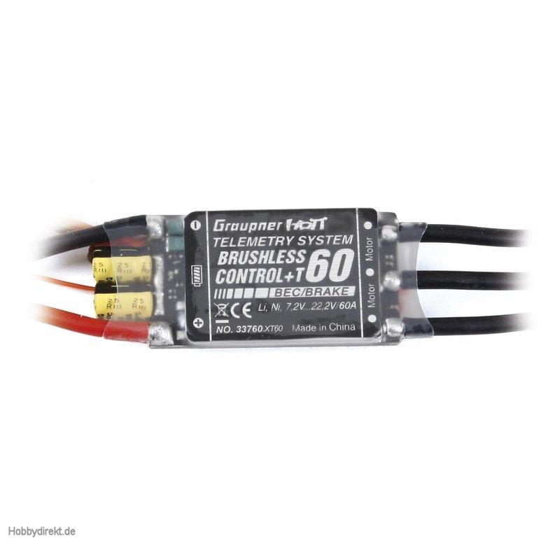 Regler BRUSHLESS CONTROL + T 60 XT-60 Graupner 33760.XT60