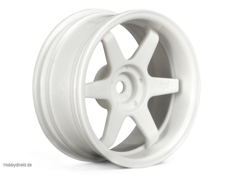 TE37 Felge 26mm Weiss (6mm Offset) HPI 3845
