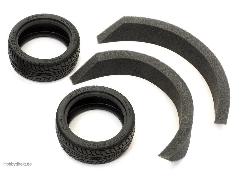 V-Groove Super Radial Reifen 26mm (Pro Misch/2St) HPI 4541
