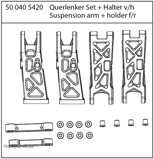 X10 ET Rock Warrior Querlenkerset+Halter Carson 405420 500405420