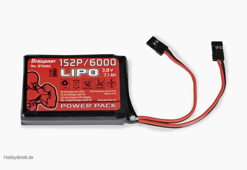 Senderakku LiPo 1S2P/6000 3,8 V TX 27Wh Graupner BT8082