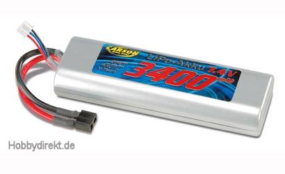 Li-Po RacingPack 7,4V/3400mAh 40C T-Plug Carson 608098 500608098