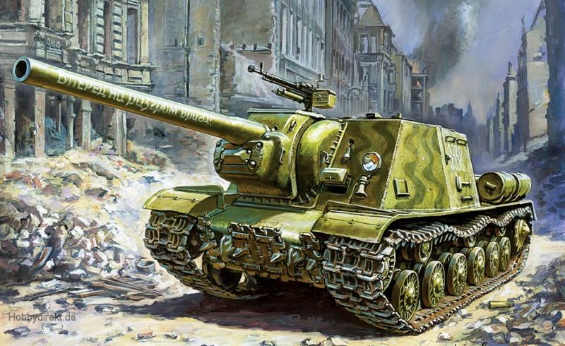 1:72 ISU-122 Sov.Self Propelled Gun WWII Carson 785054 500785054