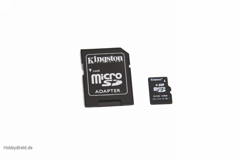 Micro-SD card 4 GB for HoTT tr Graupner 33002.11