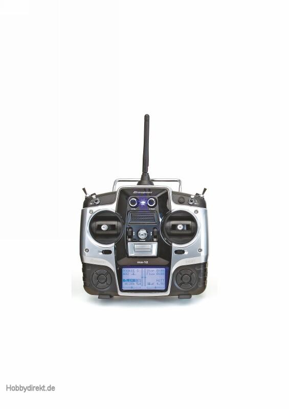Fernsteuerung mx-12HoTT + GR-1 Graupner 33114