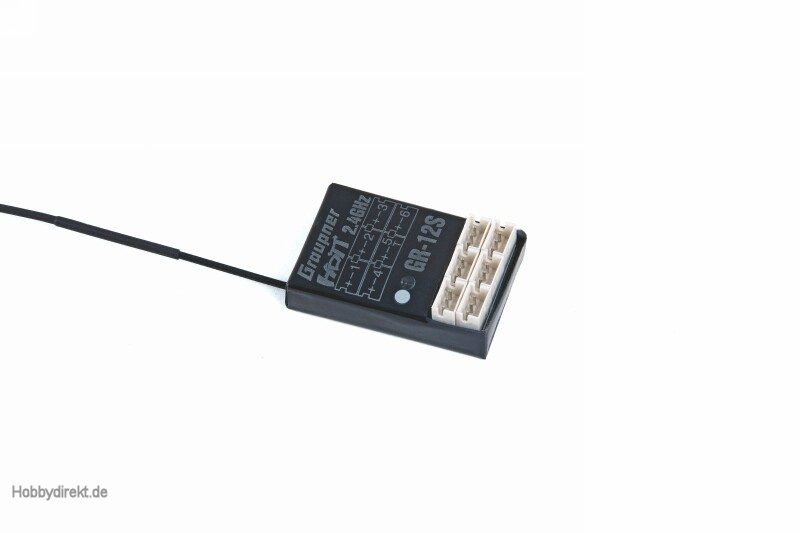Empfänger GR-12S HoTT 2.4 GHz 6 Kanal Graupner 33505