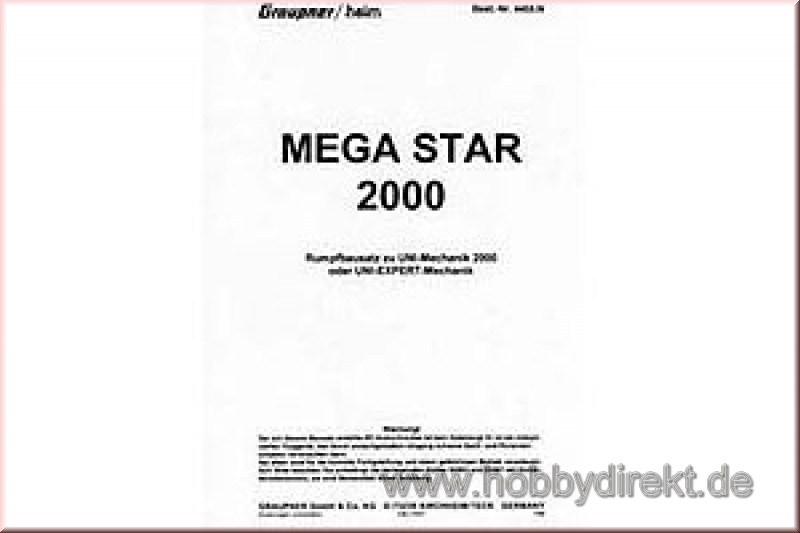 Bauanleitung MEGA STAR,deutsch Graupner 4455.200