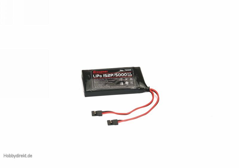 radiobattery LiPo 3,7V1S2P/500 Graupner 76500